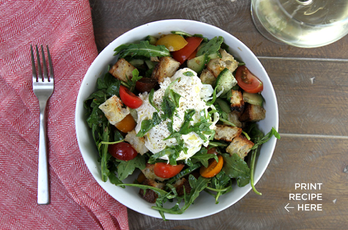 Burrata Caprese Salad with Balsamic Vinaigrette