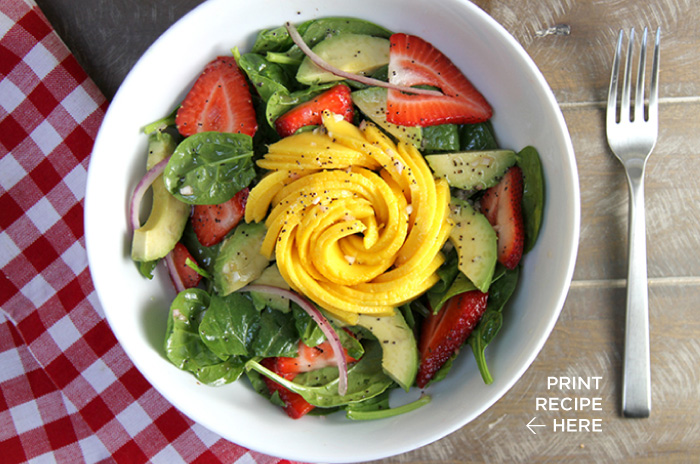 Spring Spinach Salad with Lemon-Poppyseed Vinaigrette