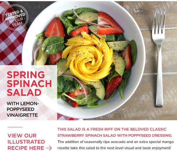 RECIPE: Spring Spinach Salad