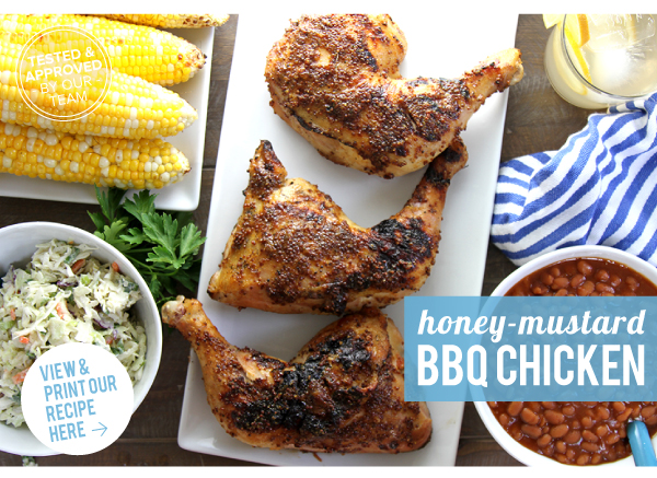 RECIPE: Honey Mustard BBQ CHICKEN