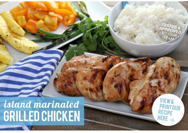 RECIPE: Island Marinated Grilled Chicken