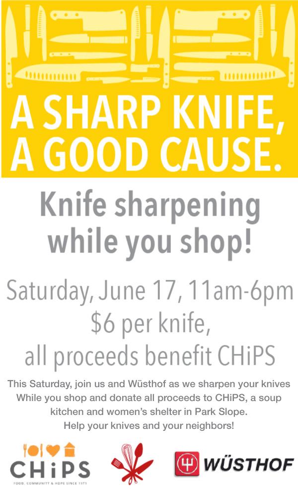 Knife Sharpening Event