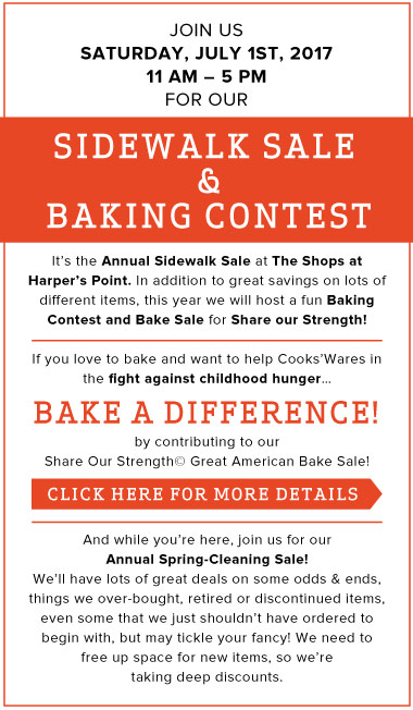 Sidewalk Sale and Baking Contest