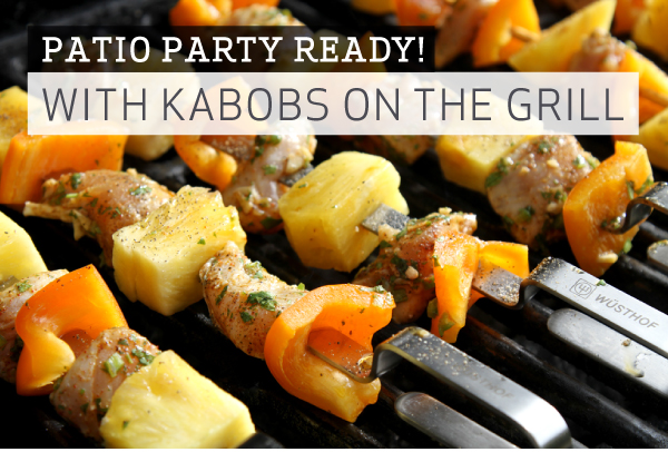 Patio Party with Kabobs on the Trill