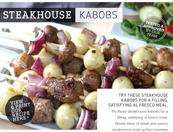 RECIPE: Steakhouse Kabobs