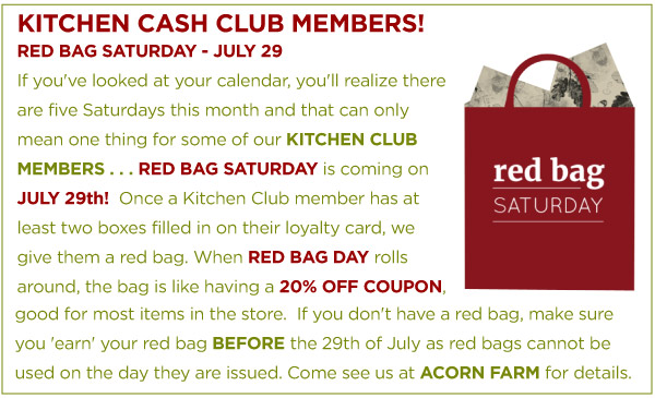 Red Bag Saturday - July 29