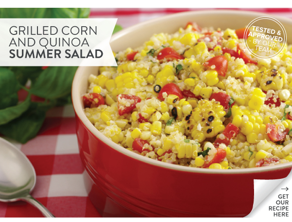 RECIPE: Grilled Corn with Quinoa Summer Salad