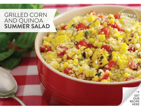 RECIPE: Grilled Corn with Quinoa Summer Salad