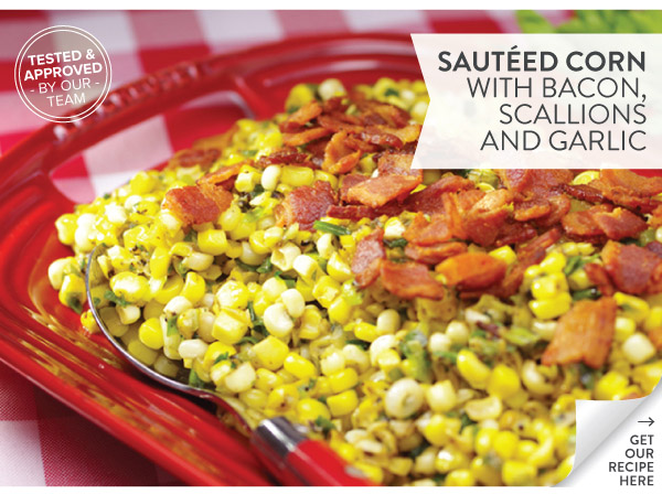RECIPE: Sauteed Corn with Bacon, Scallions, and Garlic
