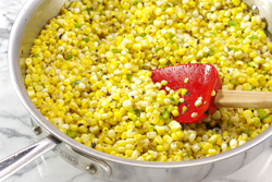 Sauteeing Corn