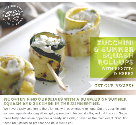RECIPE: Zucchini and Summer Squash Roll-Ups
