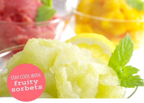 Stay Cool with Fruity Sorbets
