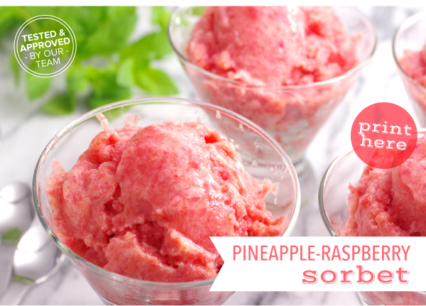 RECIPE: Pineapple-Raspberry Sorbet