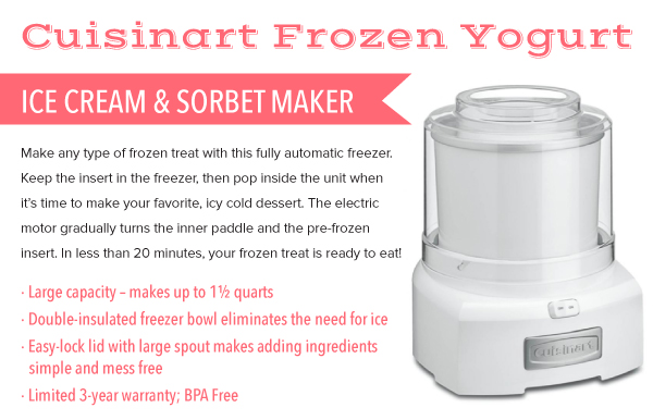Ice Cream and Sorbet Maker