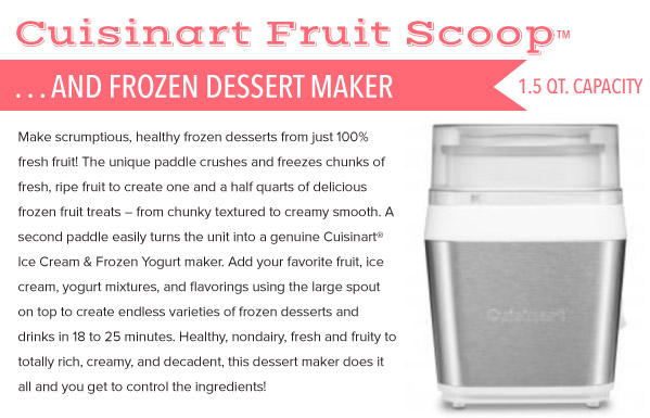 Ice Cream and Sorbet Maker