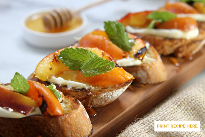 Grilled Stone Fruit Bruschetta