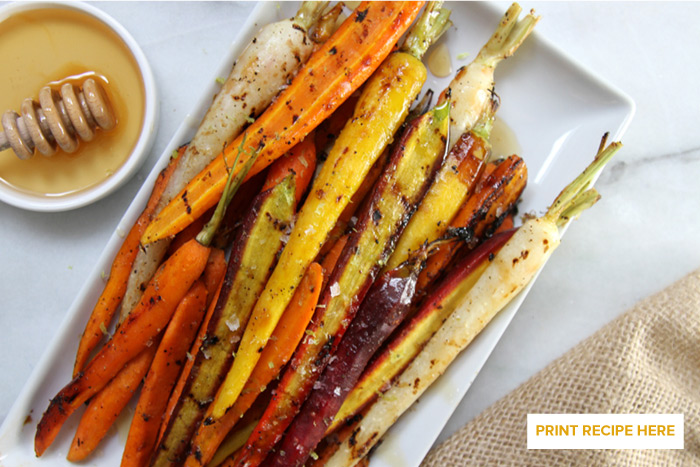 Honey-Lime Grilled Carrots