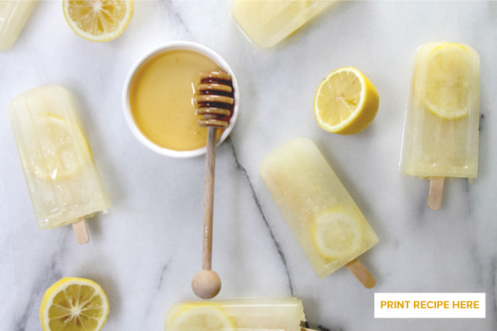 Honey-Lemonade Pops