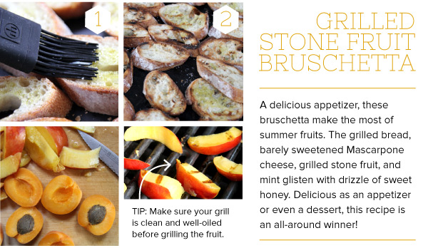 RECIPE: Grilled Stone Fruit Bruschetta