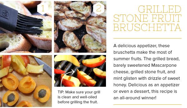 RECIPE: Grilled Stone Fruit Bruschetta