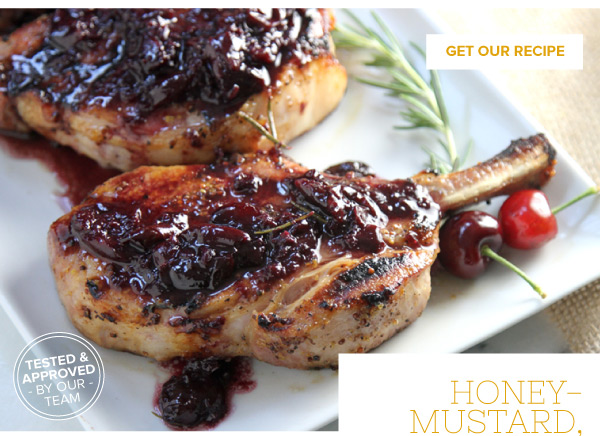 Bone-In Honey-Mustard Chops with a Cherry Sauce