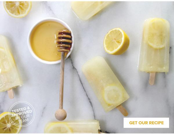 RECIPE: Honey-Lemonade Pops