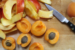 prepare stone fruits