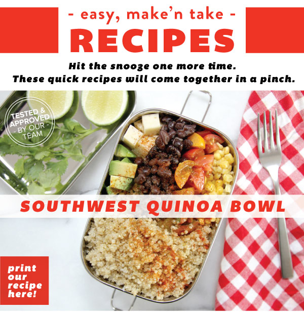 RECIPE: Southwest Quinoa Bowl