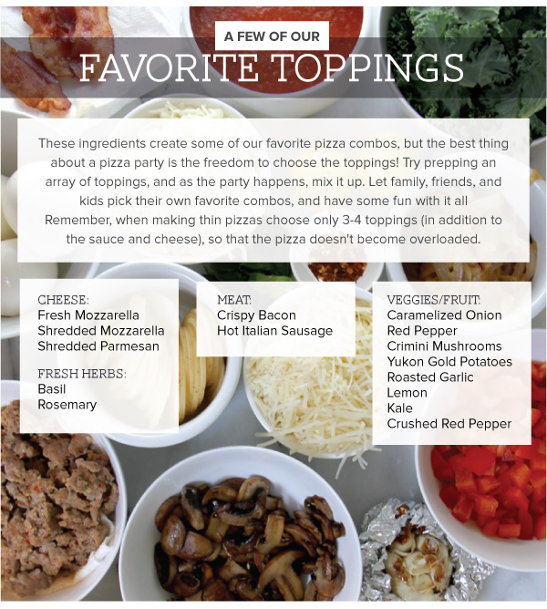 Our Favorite Toppings
