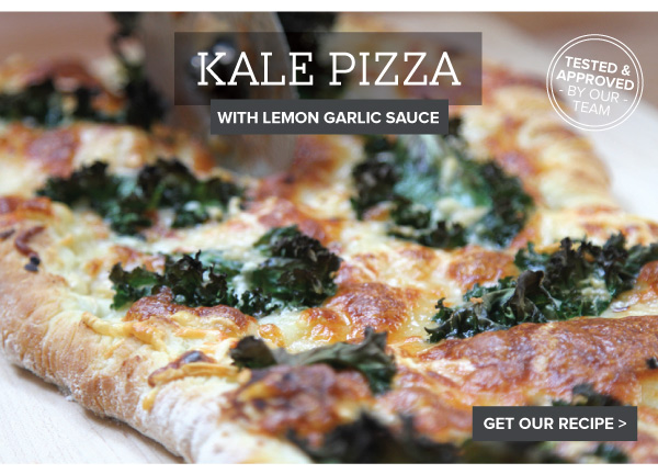 RECIPE: Kale Pizza with Lemon Garlic Sauce