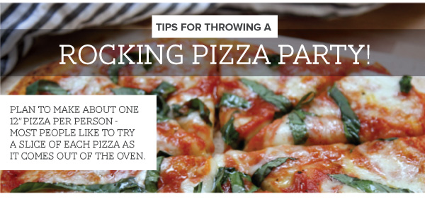 Tips for Throwing a Pizza Party