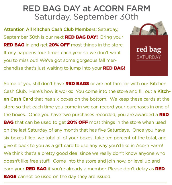 Red Bag Day
