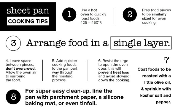 Sheet Pan Cooking Tips