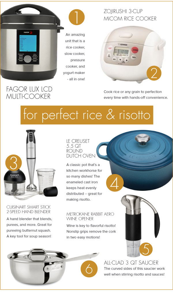 For Perfect Rice and Risotto