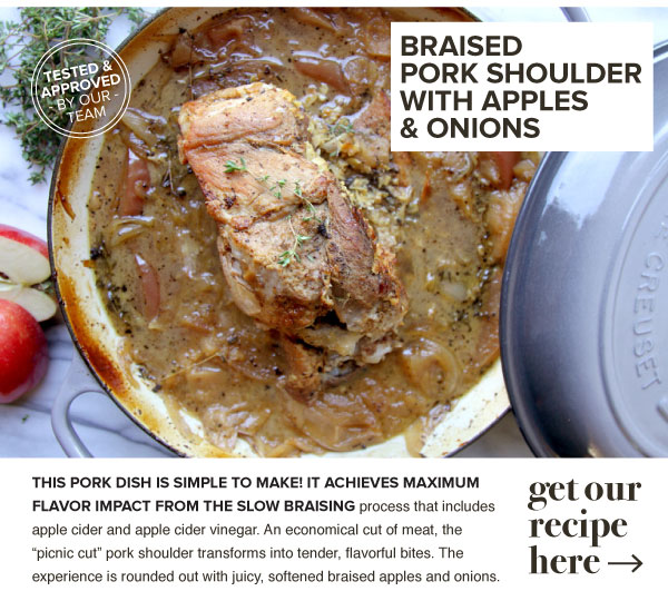RECIPE: Braised Pork Shoulder with Apples and Onions