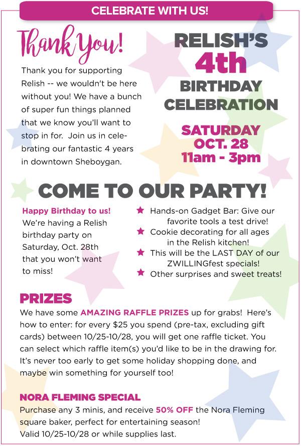 4th Birthday Celebration