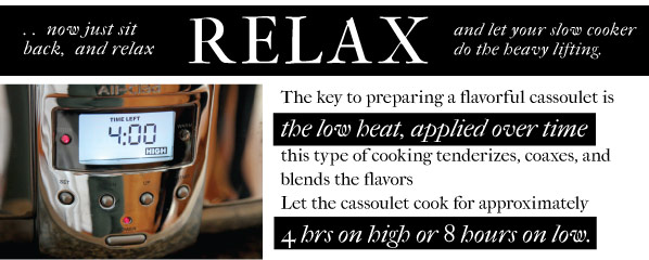 Relax and Slow Cook