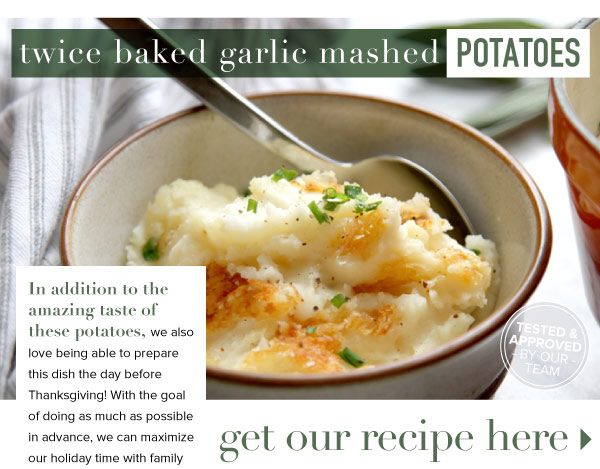 RECIPE: Twice Baked Garlic Mashed Potatoes