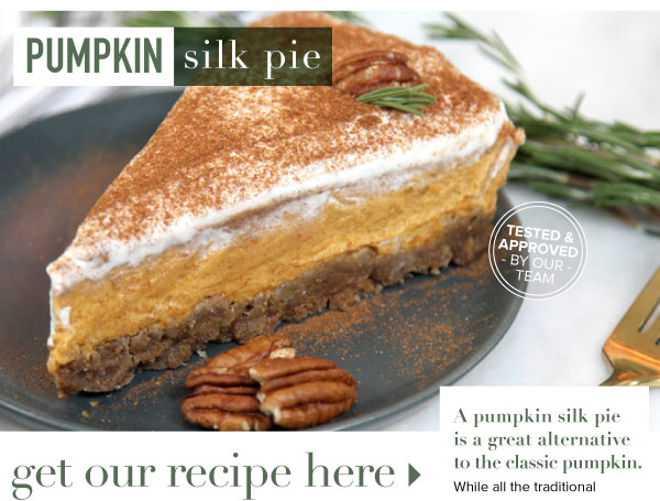 RECIPE: Pumpkin Silk Pie
