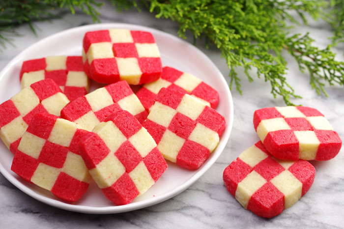Red & White Checkerboard Cookies