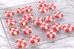 Baked Checkerboards Cooling on Rack