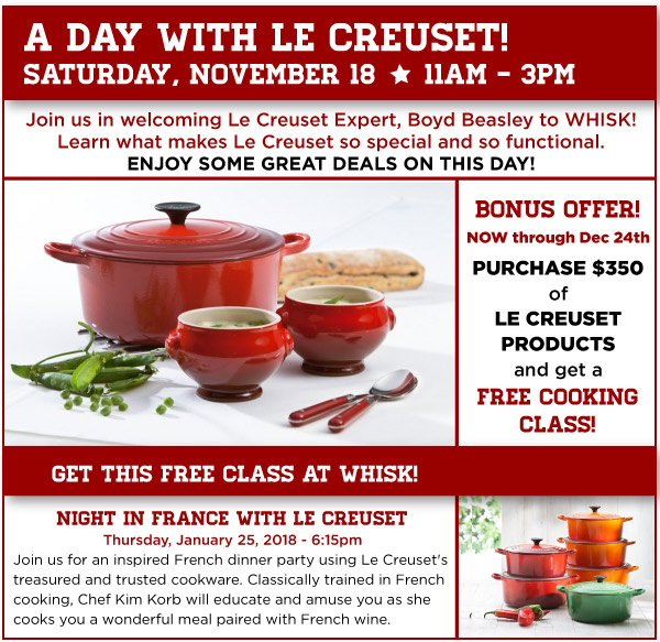 A Day with Le Creuset