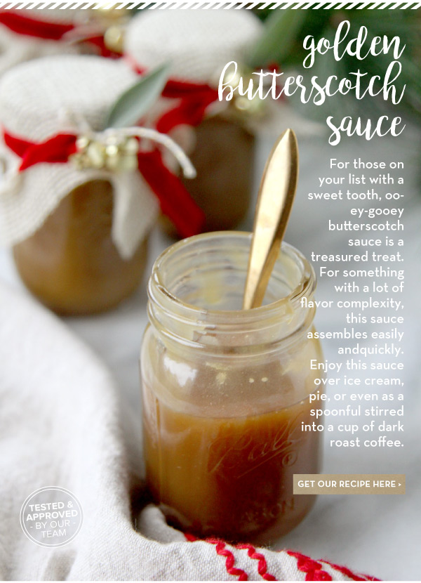 RECIPE: Golden Butterscotch Sauce