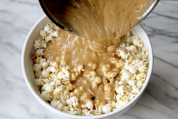Mix with popcorn mix