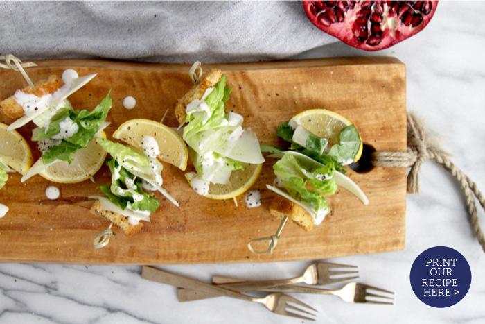 Caesaer Salad Bites