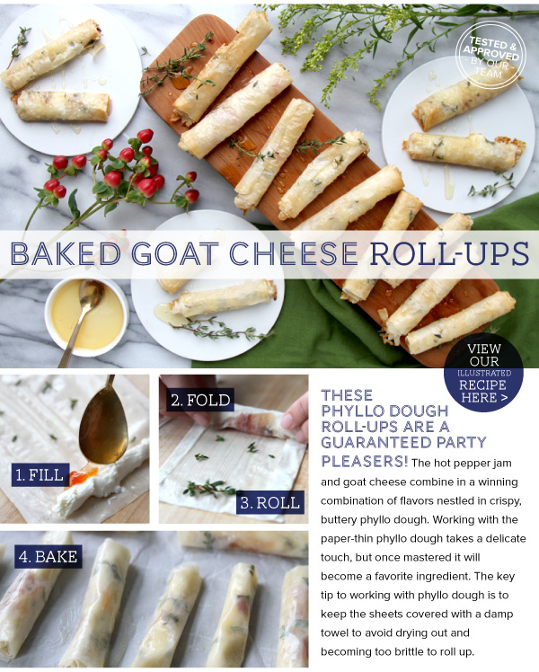 Baked Goat Cheese Roll-Ups