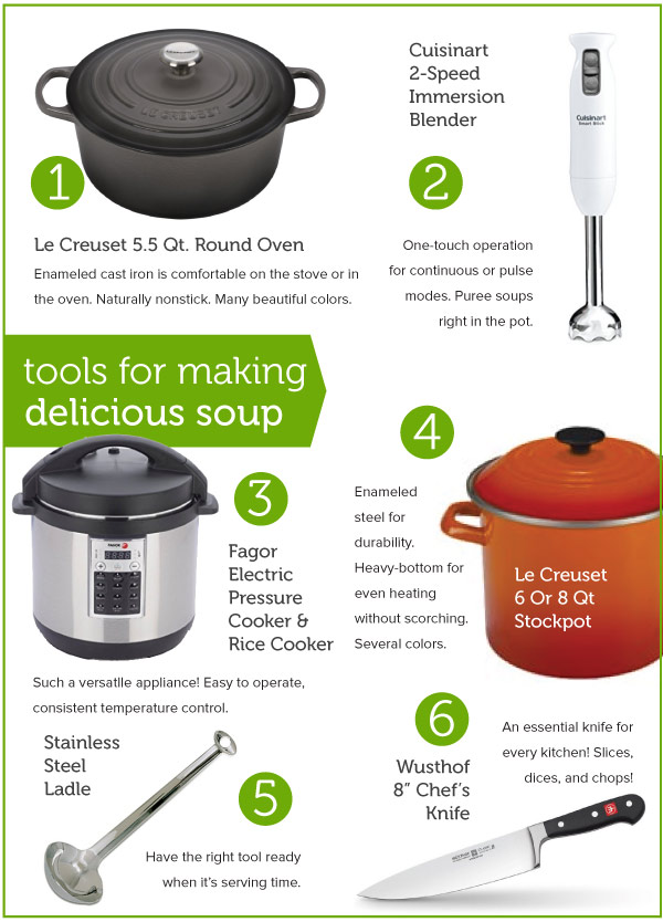Tools ofr making delicious Soup