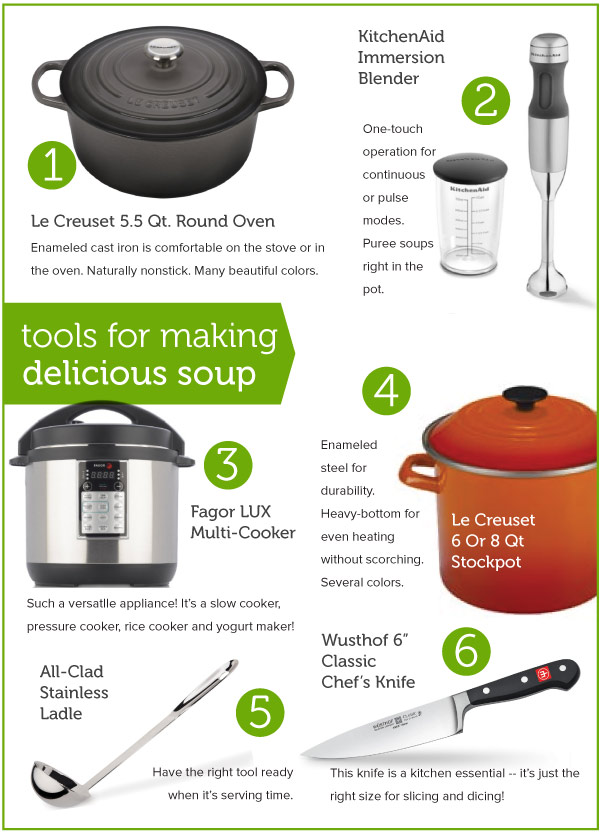 Tools for making delicious Soup
