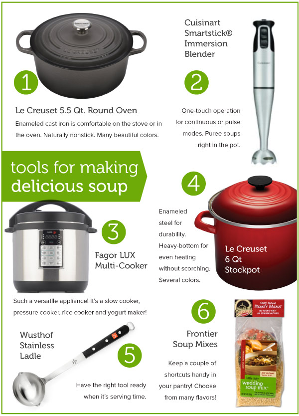 Tools for making delicious soups