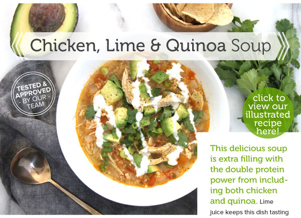 RECIPE: Chicken, Lime and Quinoa Soup